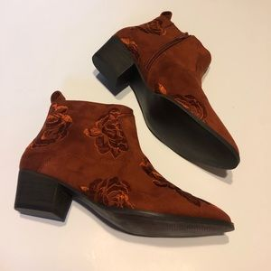 Copper colored booties
